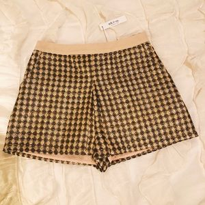 Ark & Co Pleated Jacquard Shorts NWT